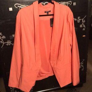 Coral Long Sleeve Blazer